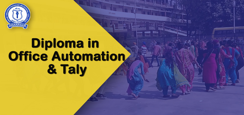 Diploma in Office Automation and Tally