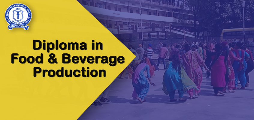 Diploma in food and beverage production