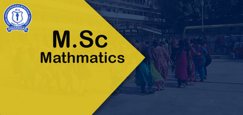 M.Sc Mathematics
